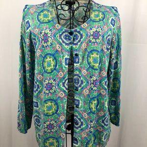 Talbots multicolor cardigan cotton blend L